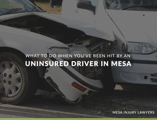 What to Do When You've Been Hit by an Uninsured Driver in Mesa